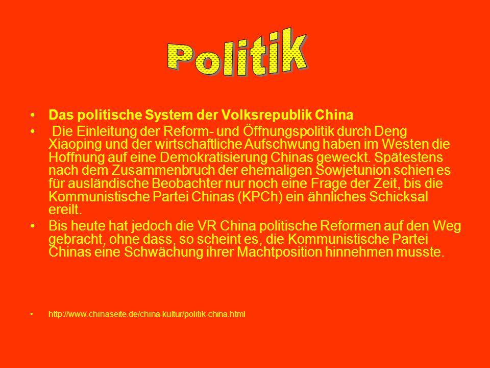 Politik Das politische System der Volksrepublik China