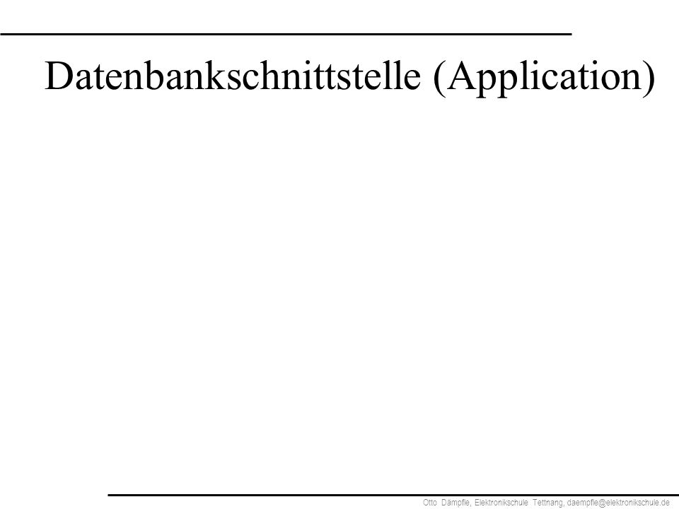Datenbankschnittstelle (Application)