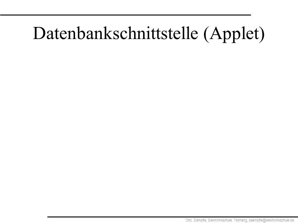 Datenbankschnittstelle (Applet)