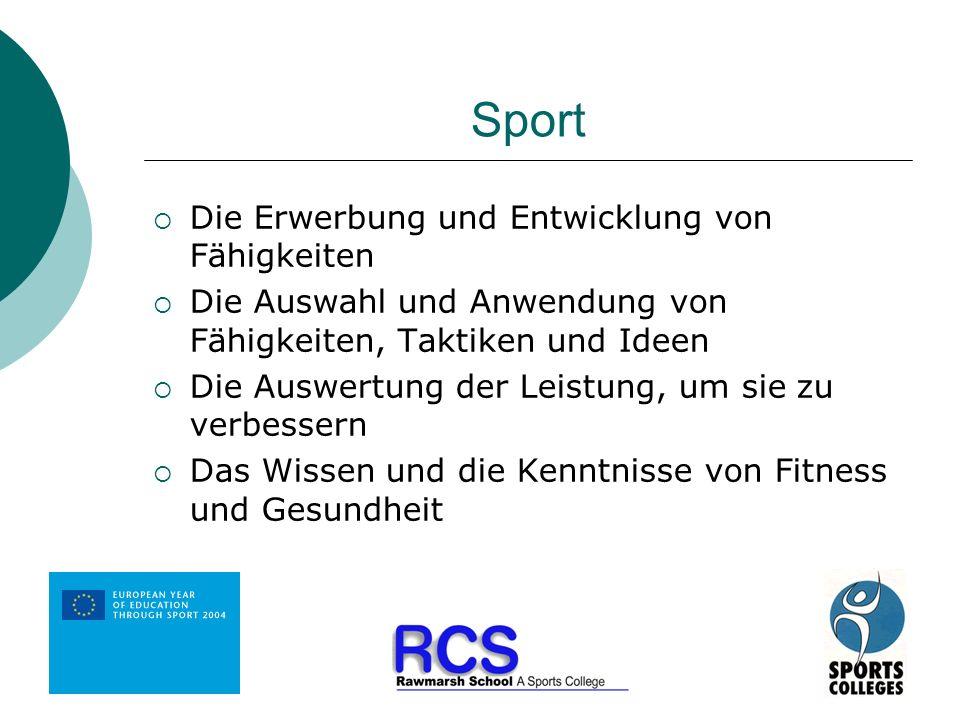 Sport Die Erwerbung und Entwicklung von Fähigkeiten