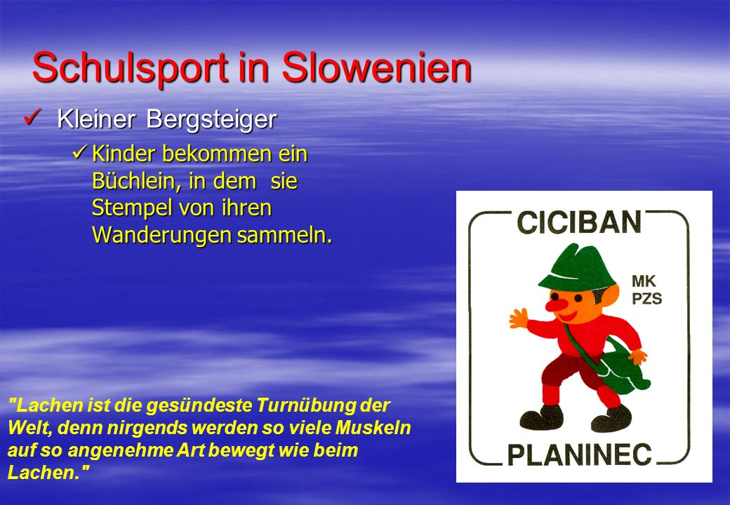 Schulsport in Slowenien