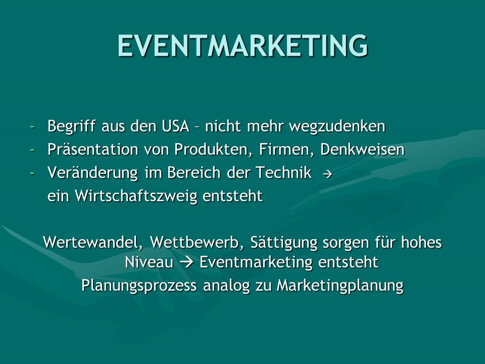 Planungsprozess analog zu Marketingplanung