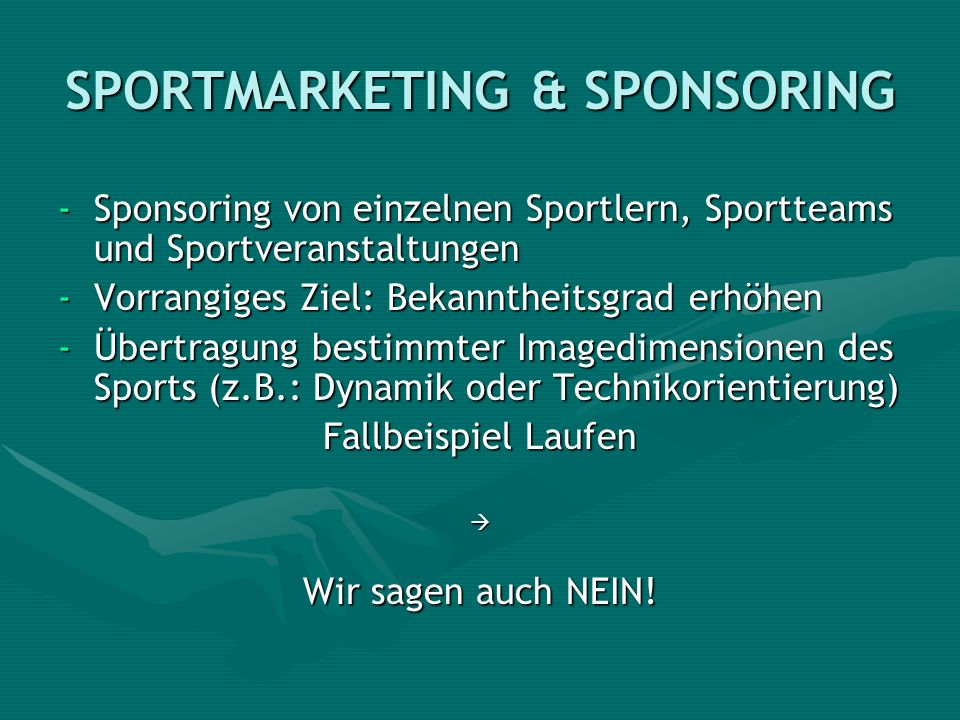 SPORTMARKETING & SPONSORING