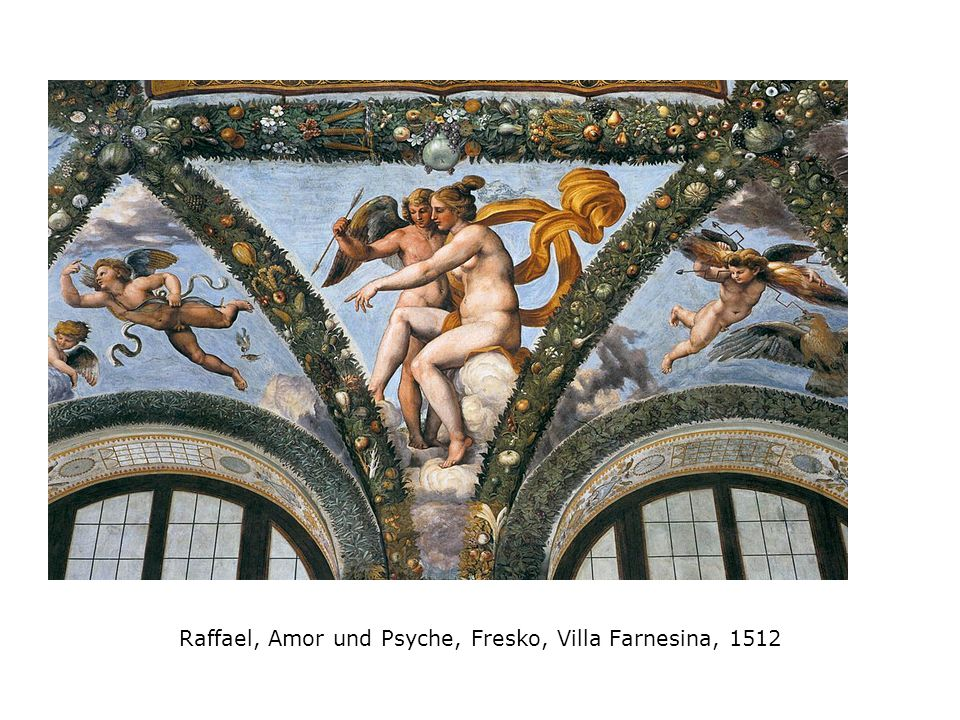 Raffael, Amor und Psyche, Fresko, Villa Farnesina, 1512