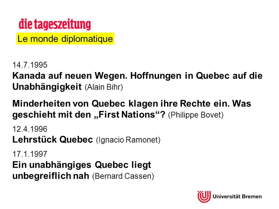 Lehrstück Quebec (Ignacio Ramonet)