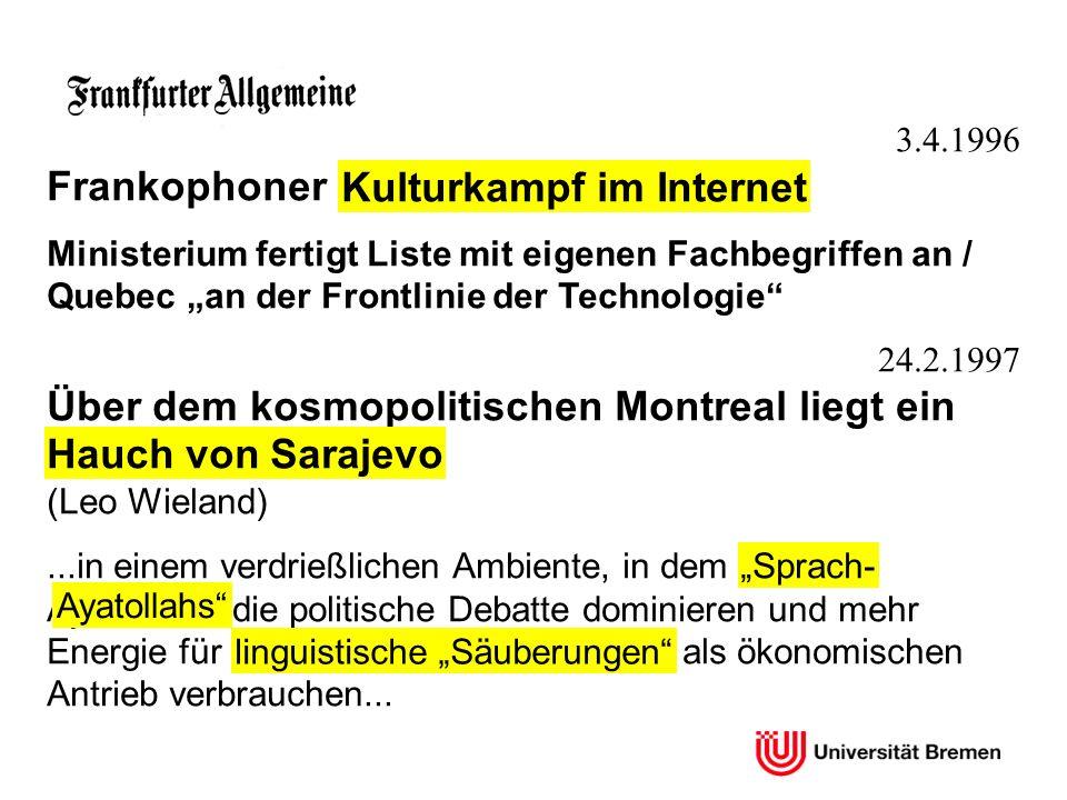 Kulturkampf im Internet