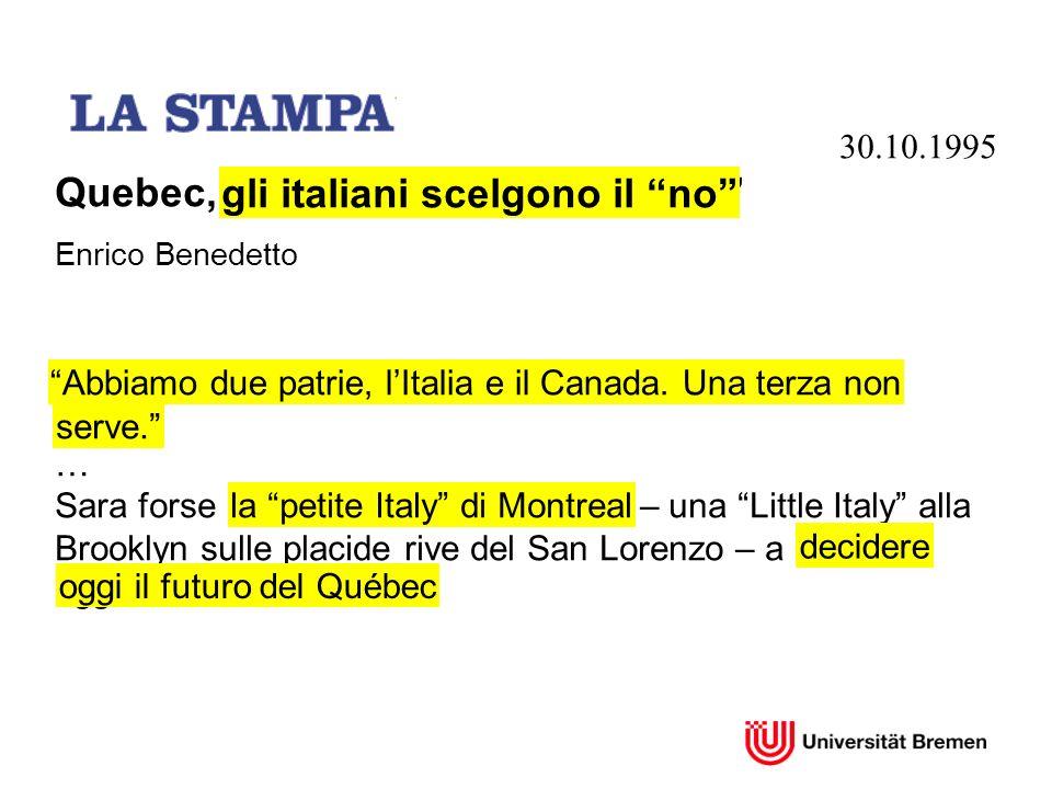 gli italiani scelgono il no