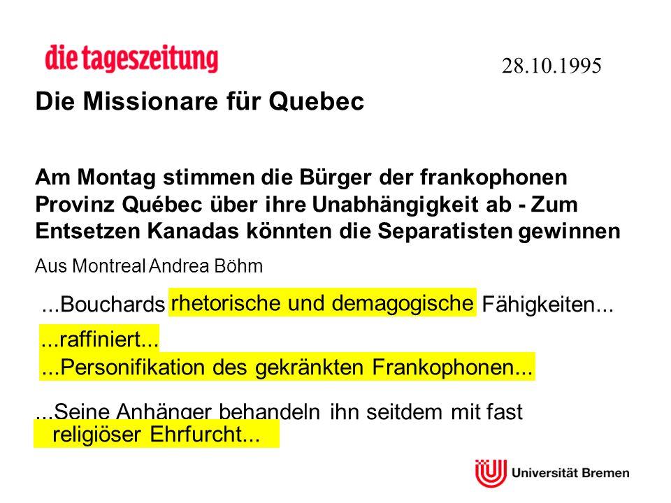 Die Missionare für Quebec