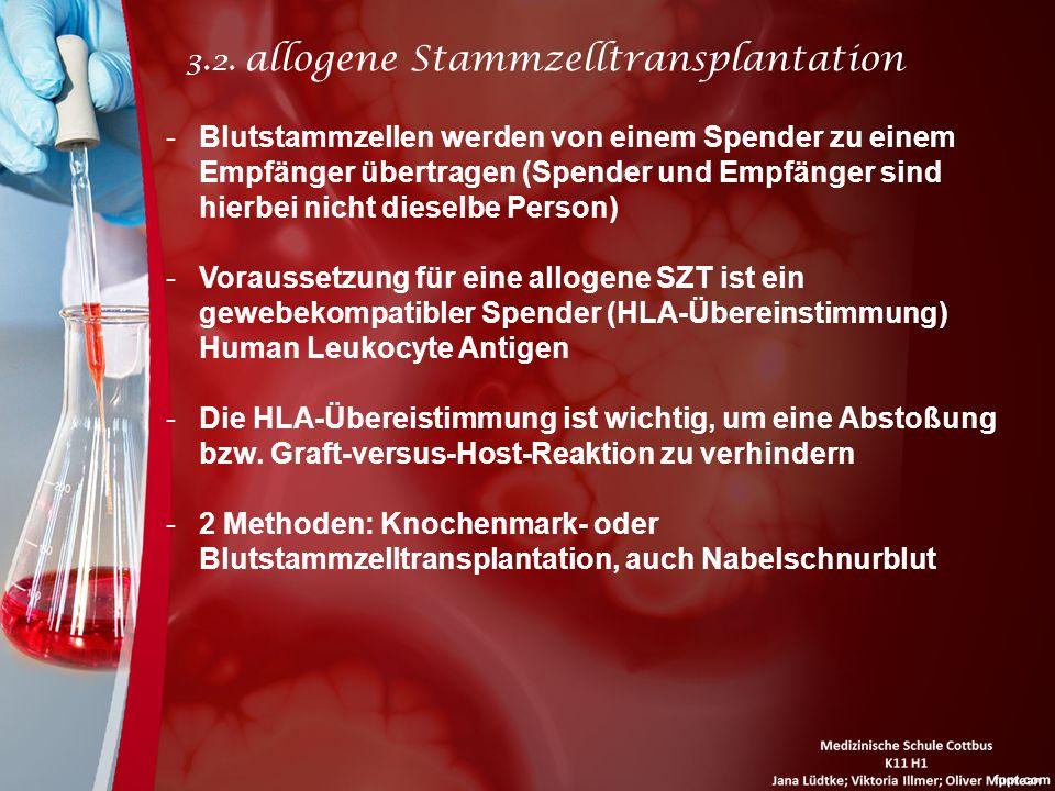 3.2. allogene Stammzelltransplantation