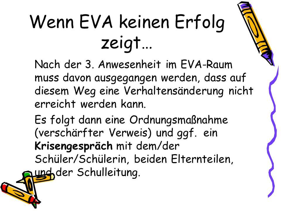 Wenn EVA keinen Erfolg zeigt…