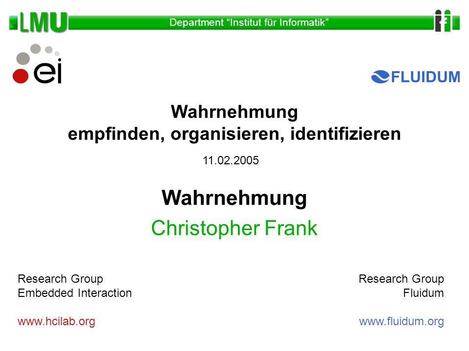 Wahrnehmung Christopher Frank