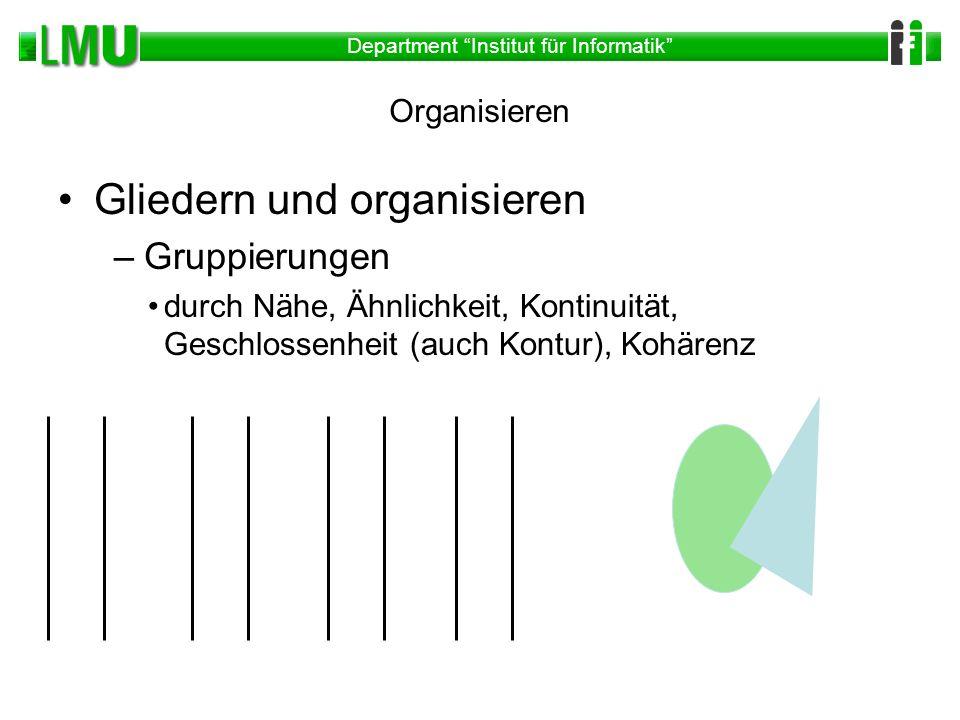 Gliedern und organisieren