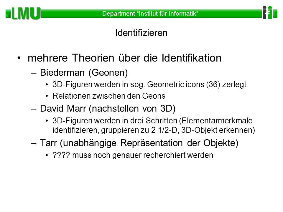 mehrere Theorien über die Identifikation