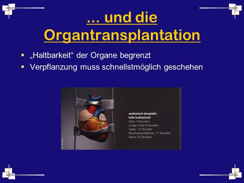 ... und die Organtransplantation