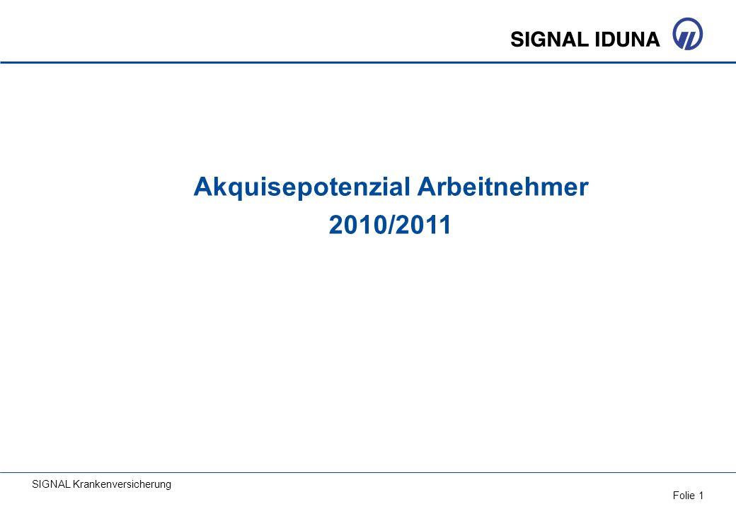 Akquisepotenzial Arbeitnehmer 2010/2011