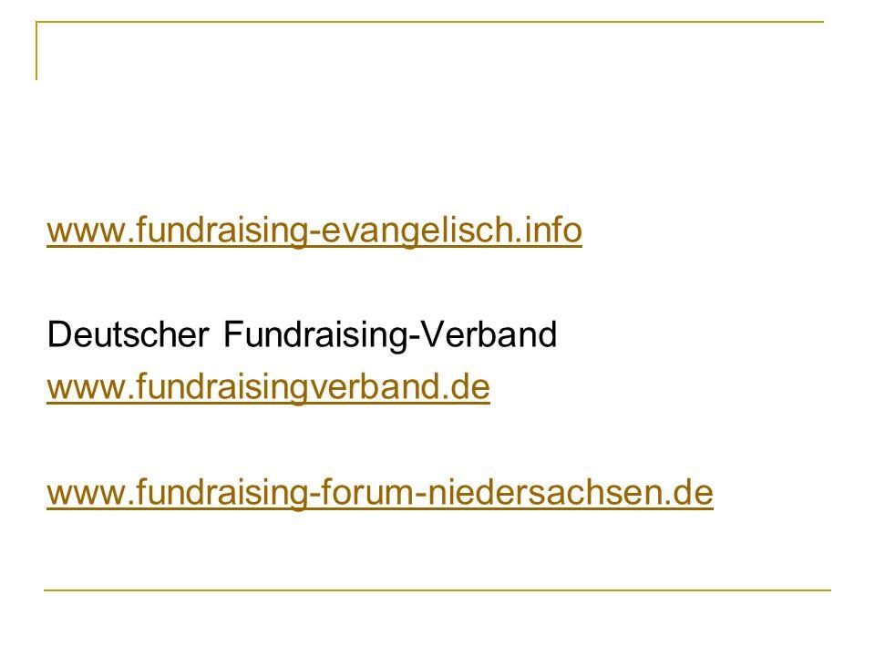 www.fundraising-evangelisch.info Deutscher Fundraising-Verband.