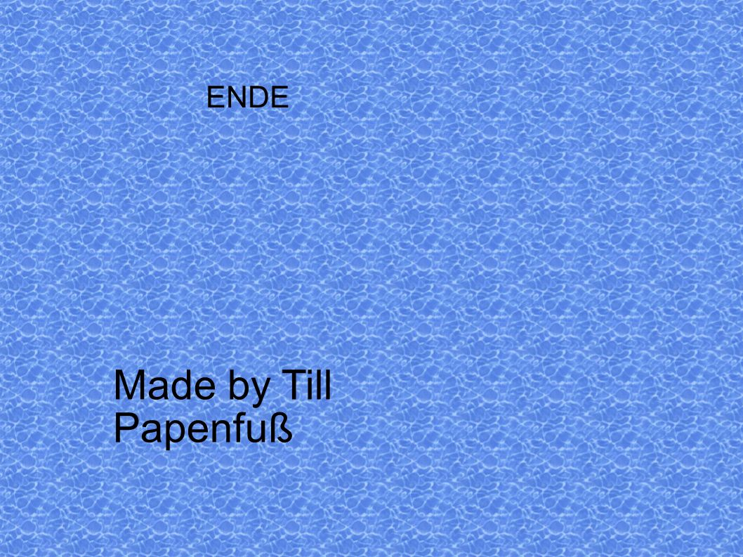 ENDE Made by Till Papenfuß