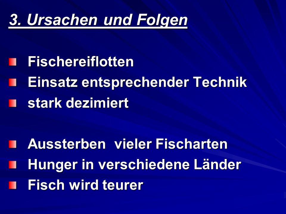 3. Ursachen und Folgen Fischereiflotten Einsatz entsprechender Technik