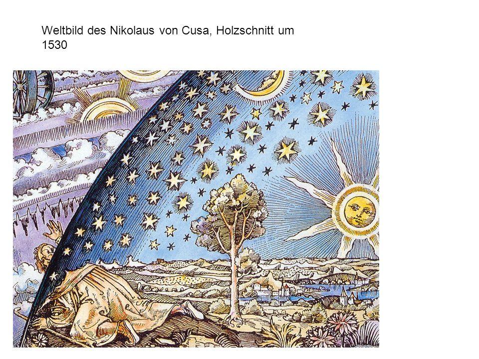 Weltbild des Nikolaus von Cusa, Holzschnitt um 1530