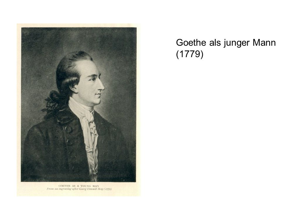 Goethe als junger Mann (1779)