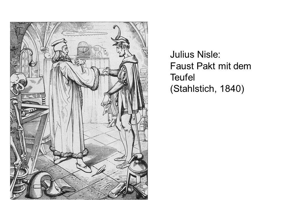 Julius Nisle: Faust Pakt mit dem Teufel (Stahlstich, 1840)