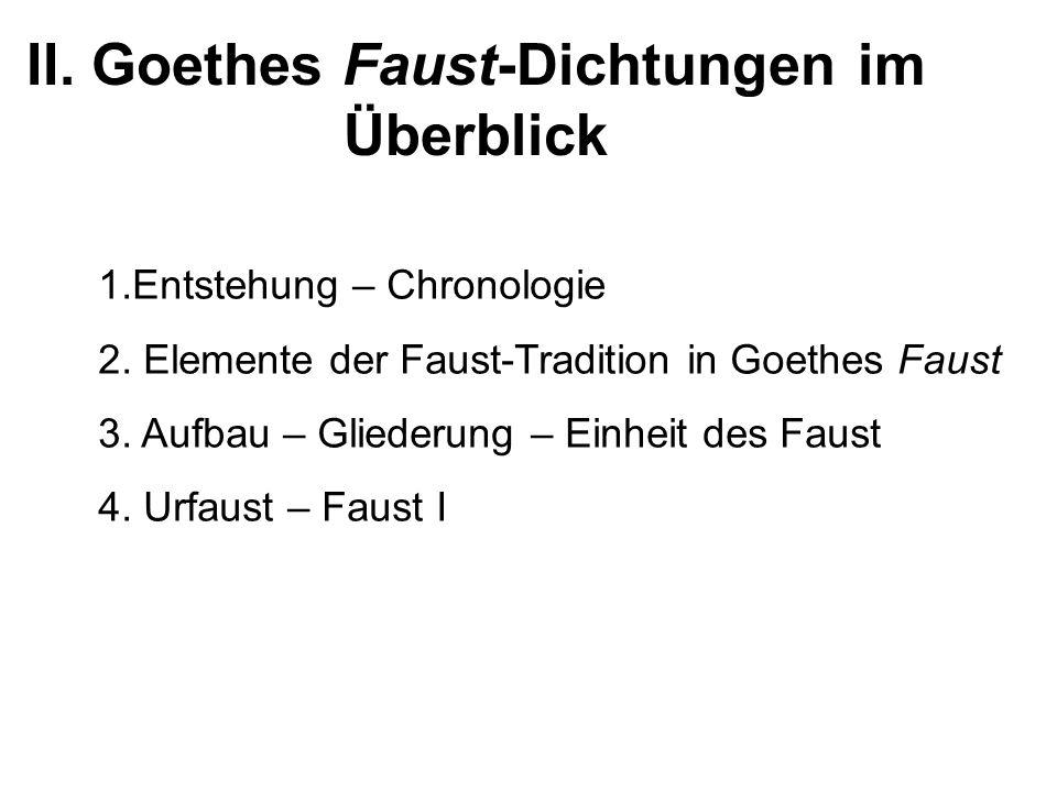 II. Goethes Faust-Dichtungen im Überblick