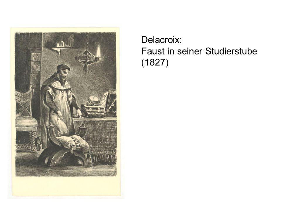 Delacroix: Faust in seiner Studierstube (1827)