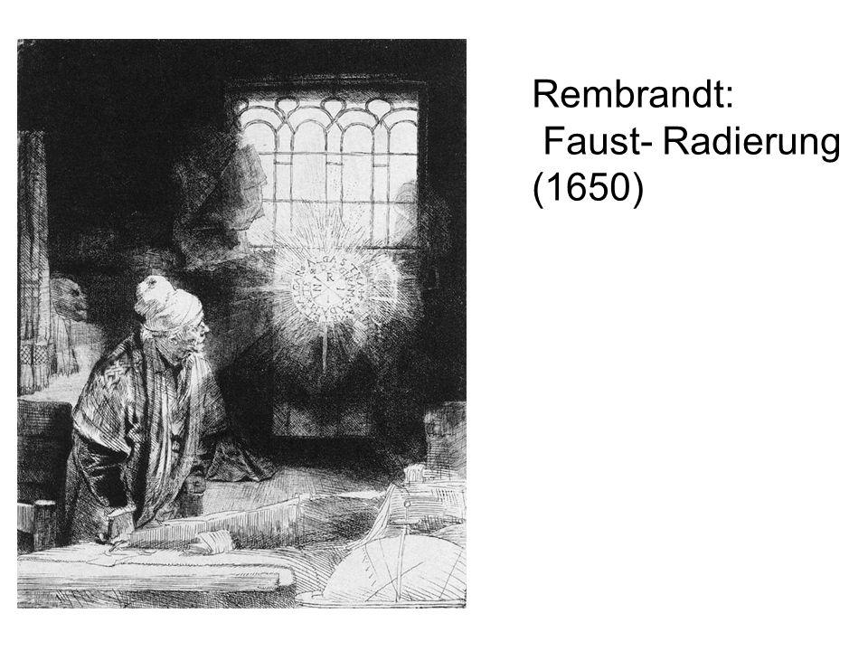 Rembrandt: Faust- Radierung (1650)