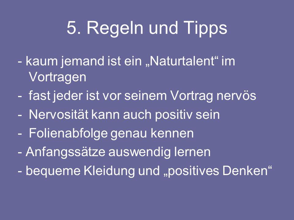 """5. Regeln und Tipps - kaum jemand ist ein """"Naturtalent im Vortragen"""