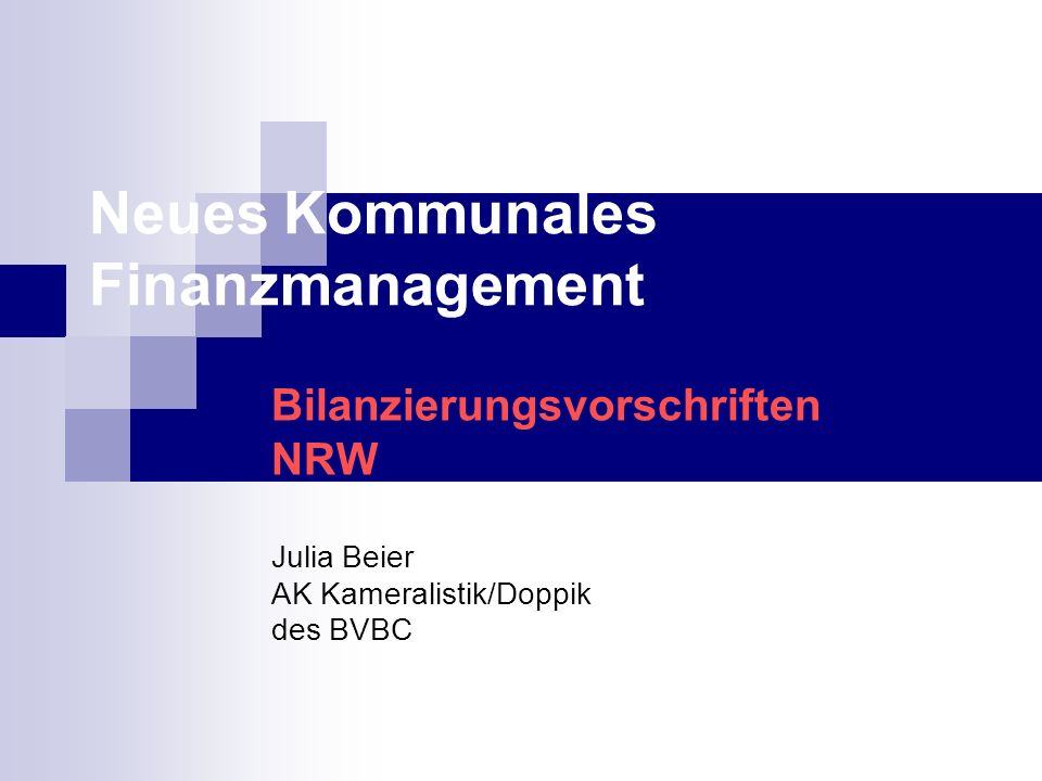 Neues Kommunales Finanzmanagement