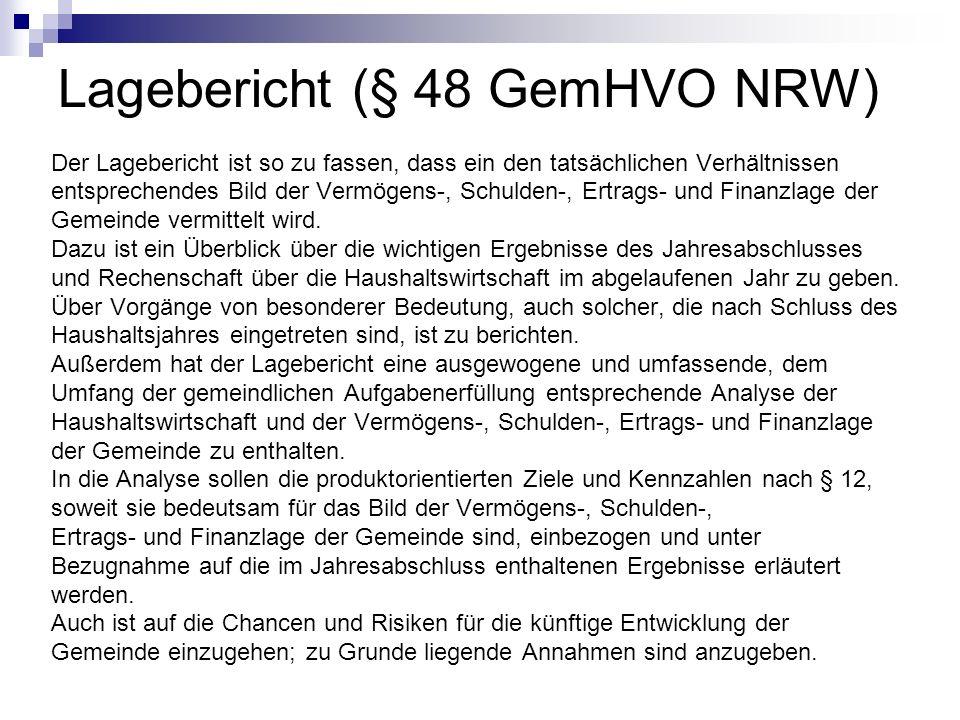 Lagebericht (§ 48 GemHVO NRW)