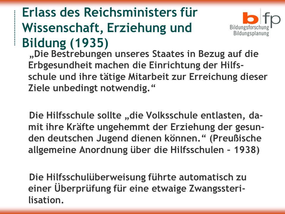Erlass des Reichsministers für Wissenschaft, Erziehung und Bildung (1935)