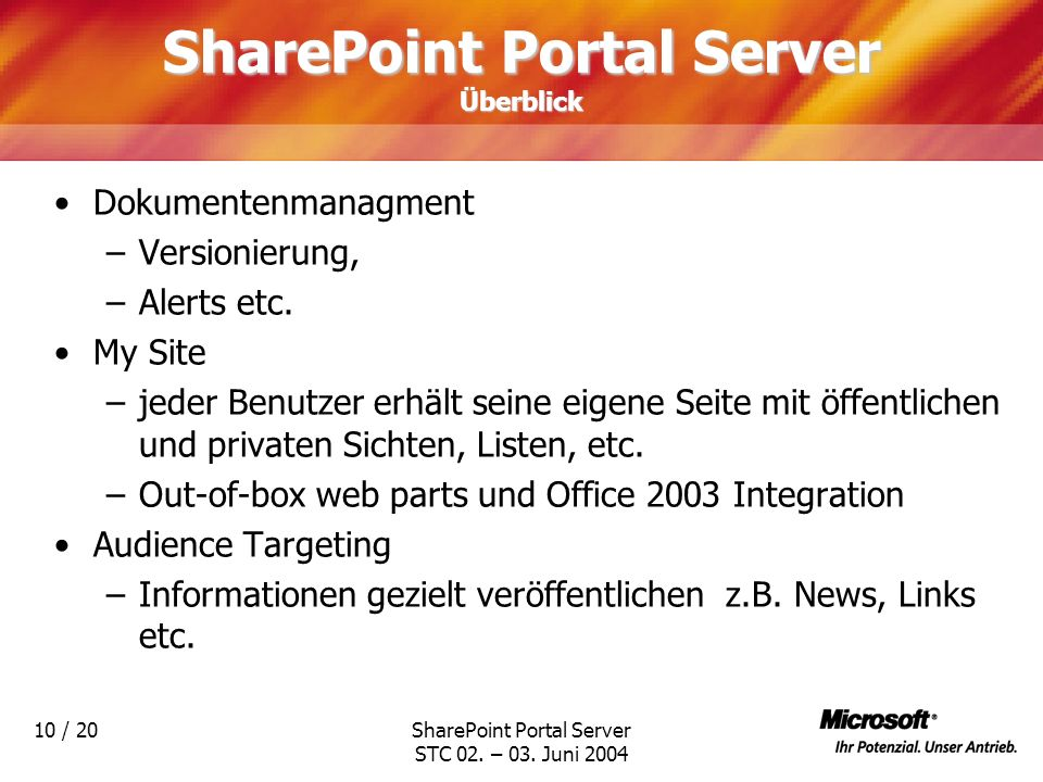 SharePoint Portal Server Überblick