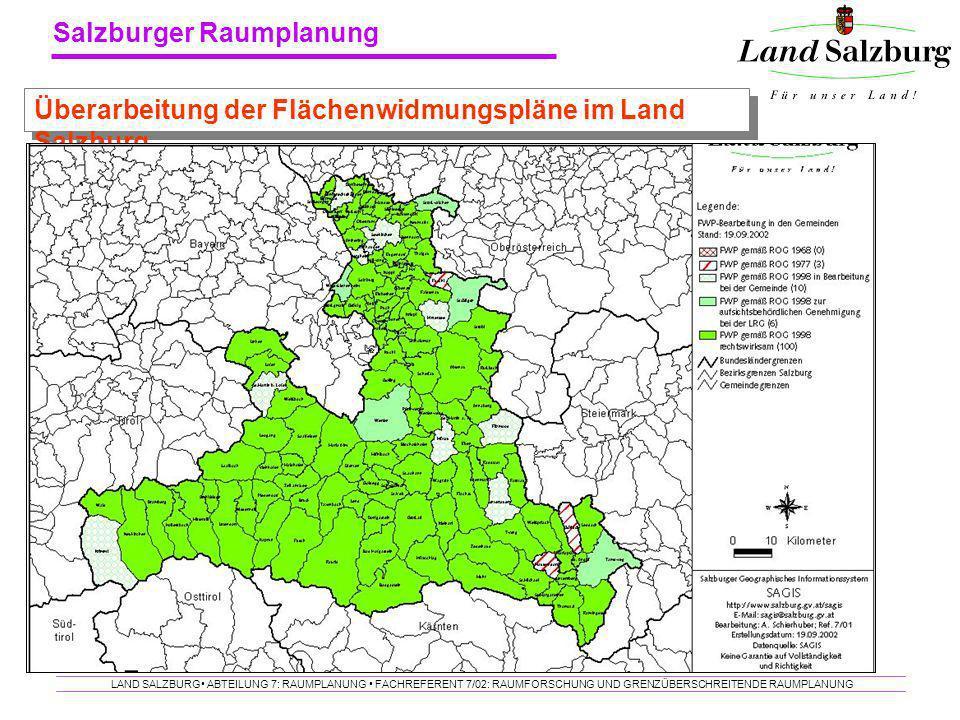 Überarbeitung der Flächenwidmungspläne im Land Salzburg