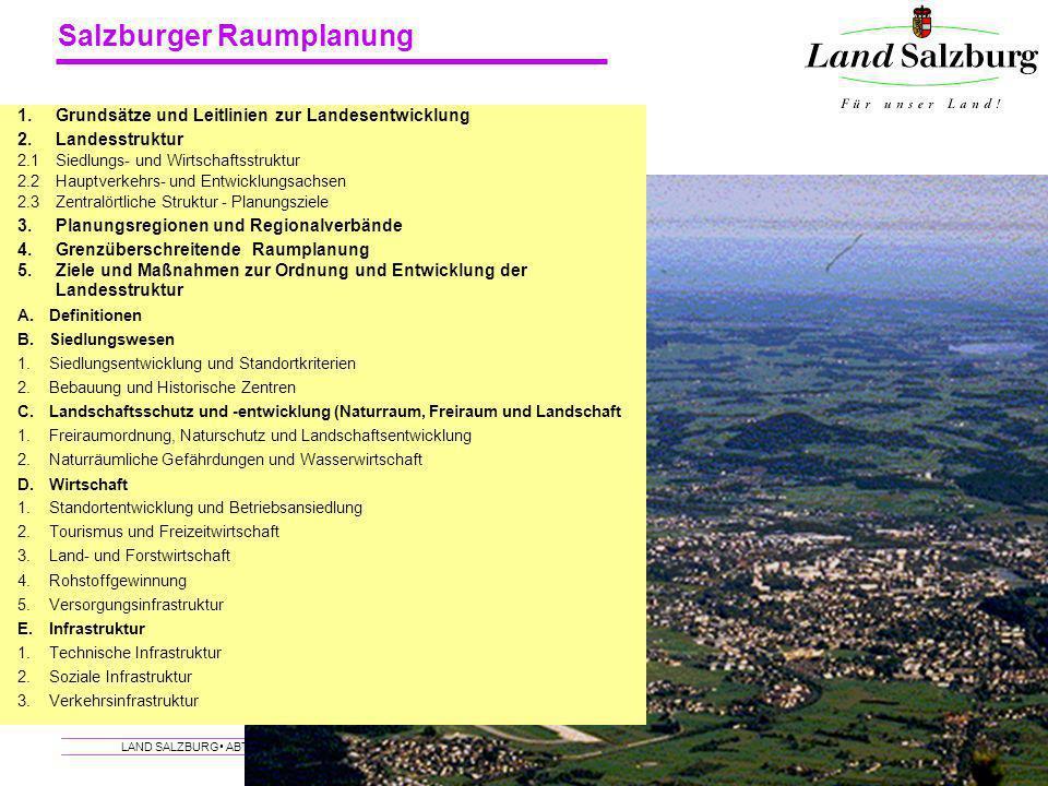 1. Grundsätze und Leitlinien zur Landesentwicklung. 2. Landesstruktur. 2.1. Siedlungs- und Wirtschaftsstruktur.