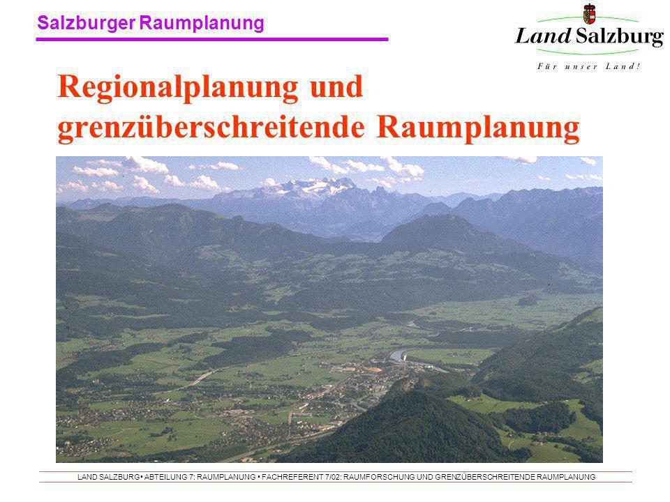 Regionalplanung und grenzüberschreitende Raumplanung