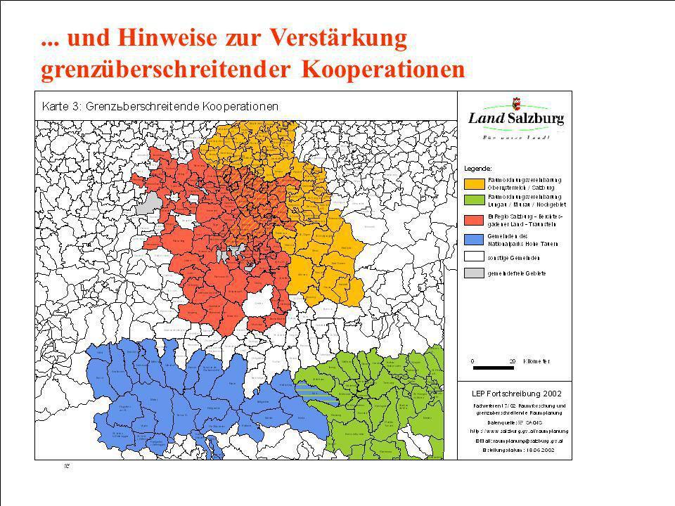 ... und Hinweise zur Verstärkung grenzüberschreitender Kooperationen