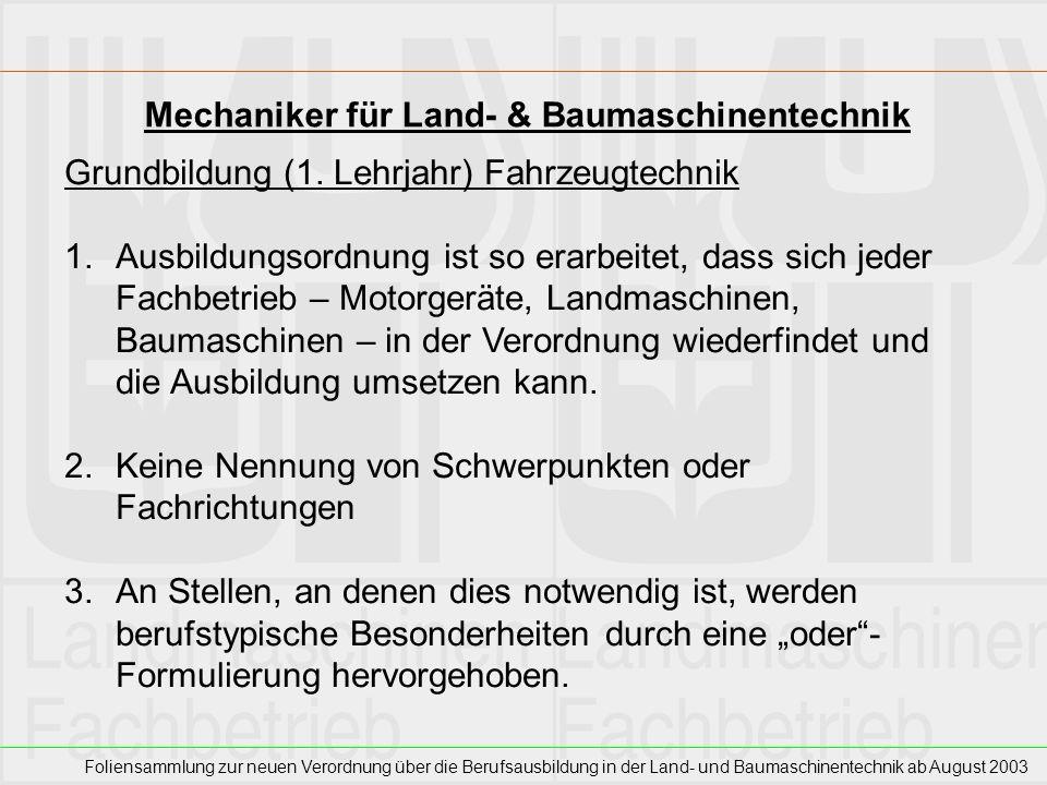 Mechaniker für Land- & Baumaschinentechnik
