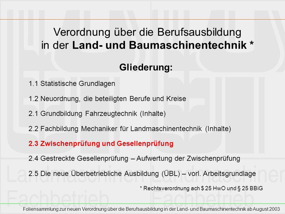 Verordnung über die Berufsausbildung in der Land- und Baumaschinentechnik *