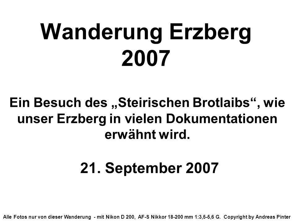 Wanderung Erzberg 2007 21. September 2007