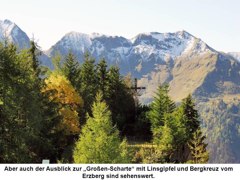 """Aber auch der Ausblick zur """"Großen-Scharte mit Linsgipfel und Bergkreuz vom Erzberg sind sehenswert."""