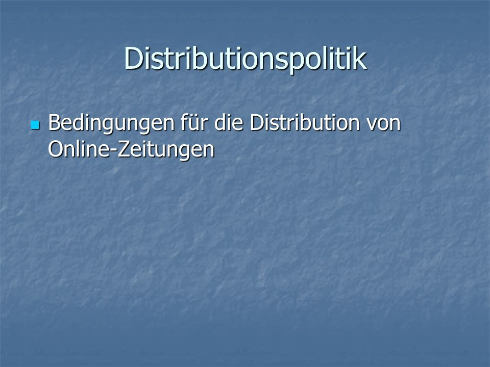 Distributionspolitik