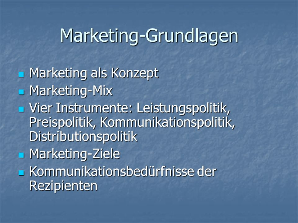 Marketing-Grundlagen