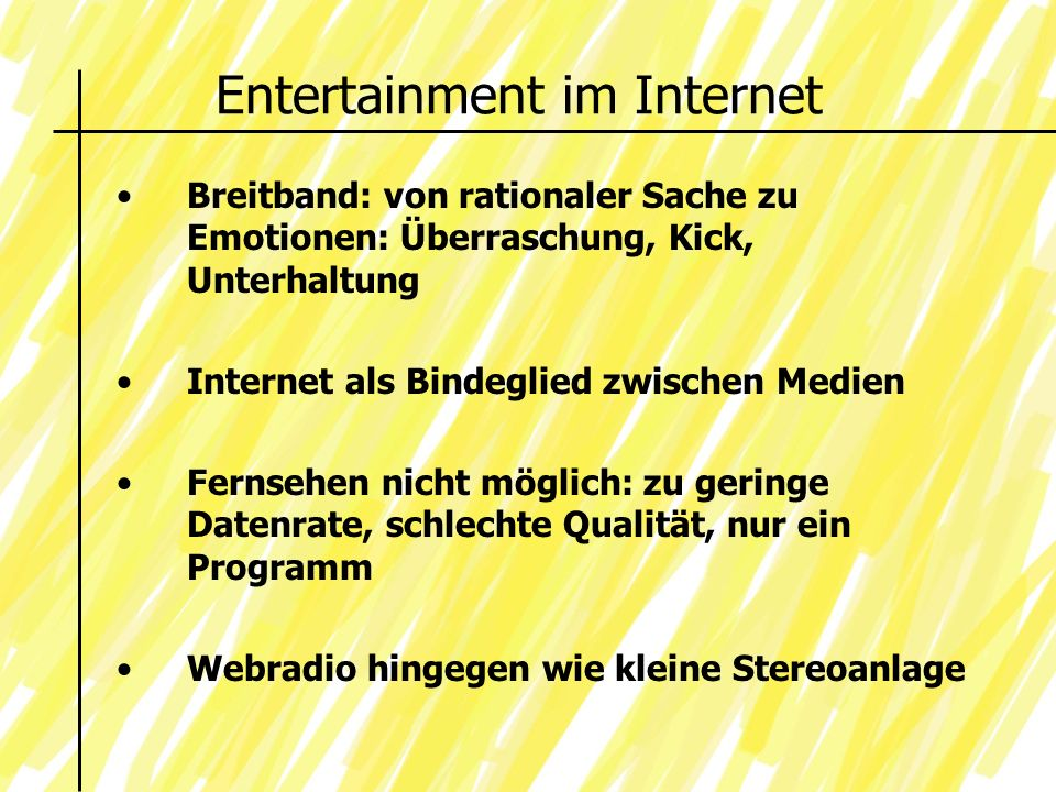 Entertainment im Internet