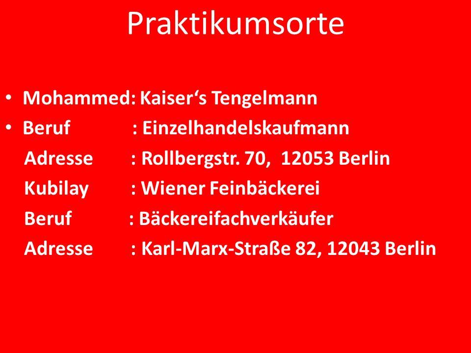 Praktikumsorte Mohammed: Kaiser's Tengelmann