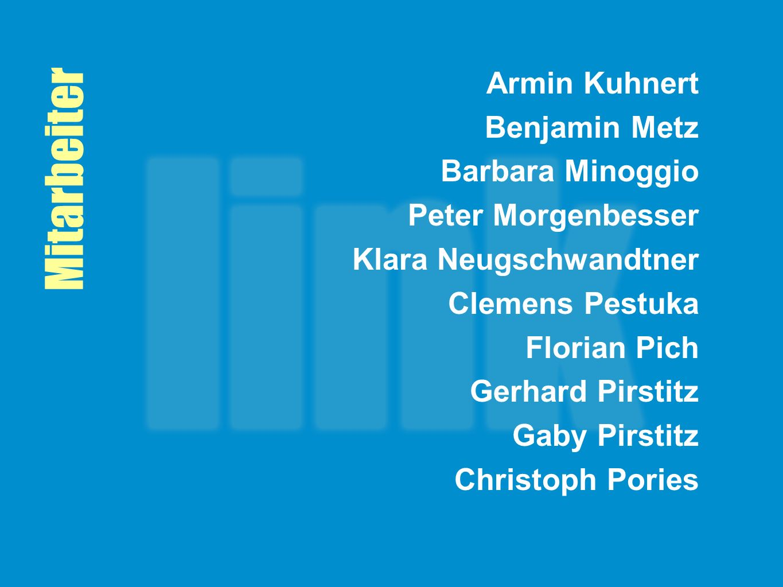 Mitarbeiter Armin Kuhnert Benjamin Metz Barbara Minoggio