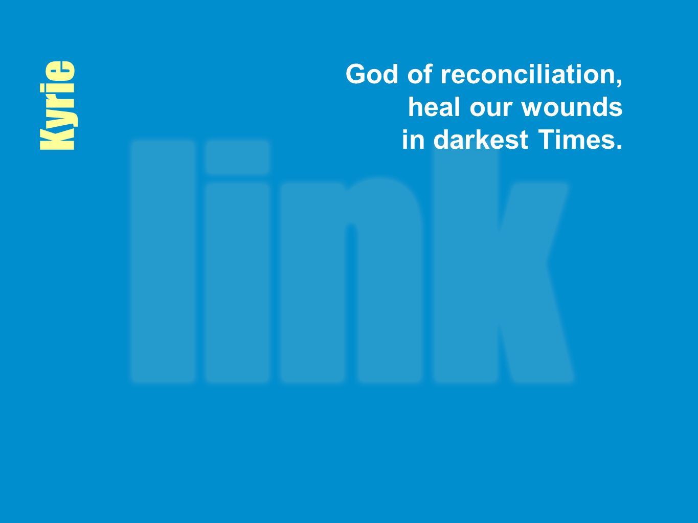 God of reconciliation, heal our wounds in darkest Times.