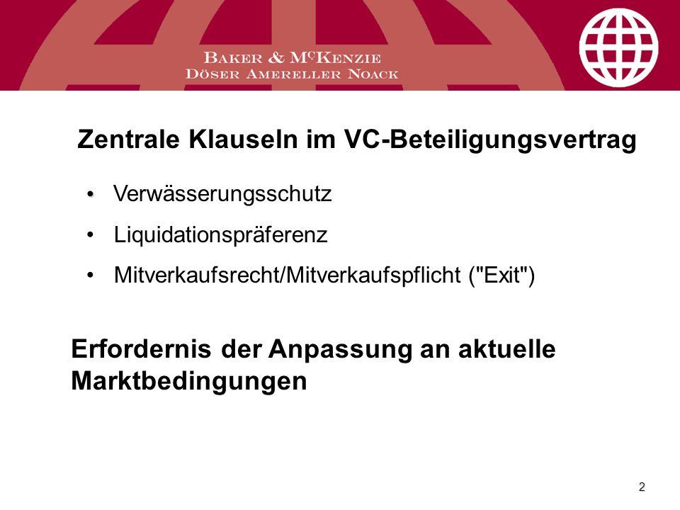 Zentrale Klauseln im VC-Beteiligungsvertrag