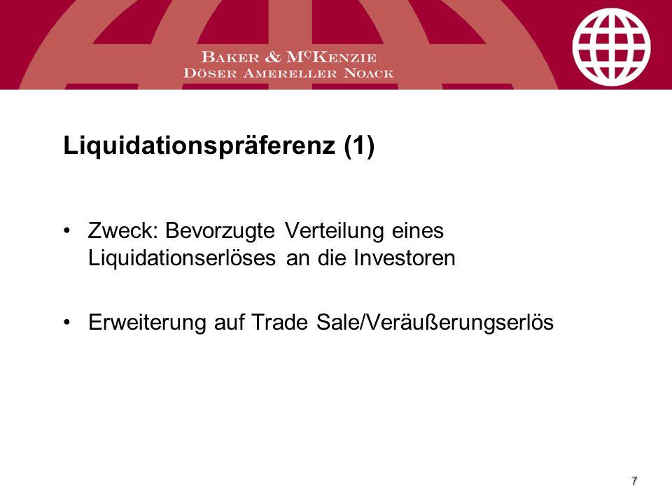Liquidationspräferenz (1)