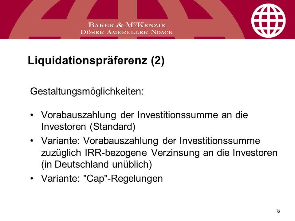 Liquidationspräferenz (2)